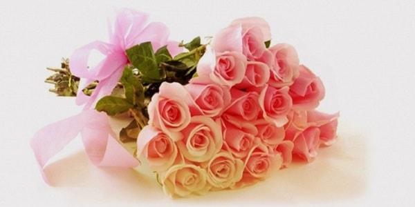 открытка с нежными розами