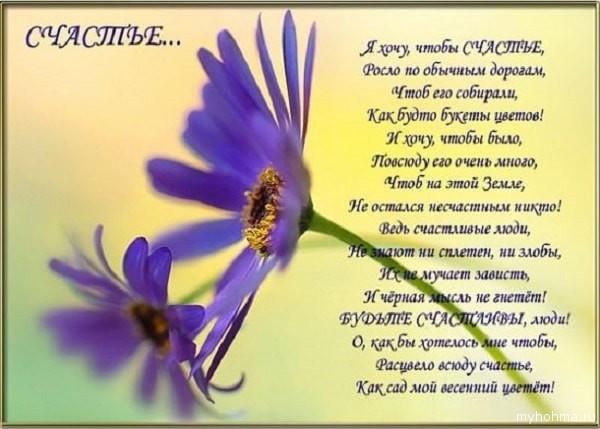 пожелание счастья в стихах