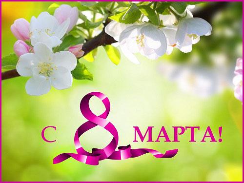 ветка вишни на 8 марта