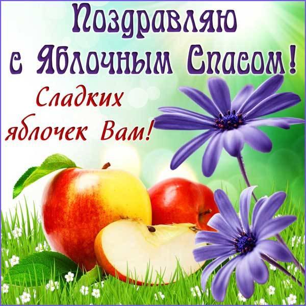 Яблочный Спас картинка с поздравлением-9