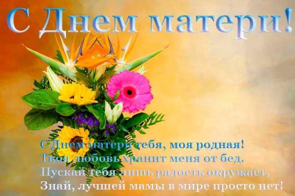 герберы и стихи маме