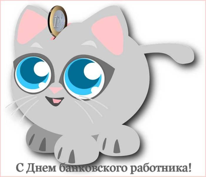 прикольная копилка-котенок