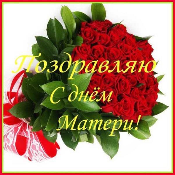 красные розы для матери