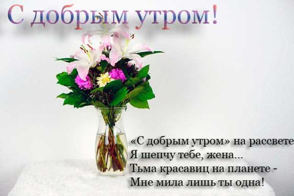 лилии и пожелание доброго утра