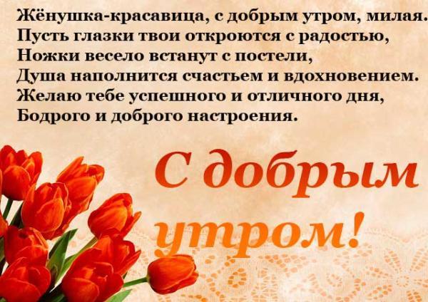 стихи жене и тюльпаны