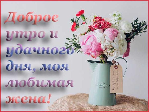 красивое стихотворение для жены и цветы