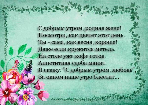цветы и красивое стихотворение
