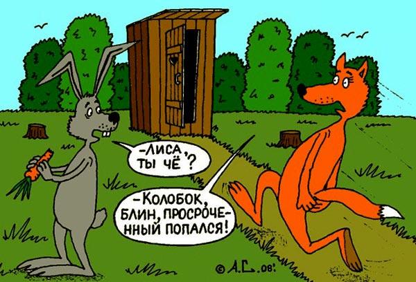 прикольный смешной до слез анекдот про лису