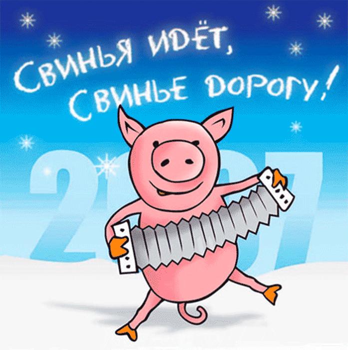 Прикольные рисунки свиньи новый год