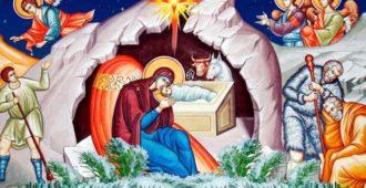 картинка Рождество Христово с ангелами